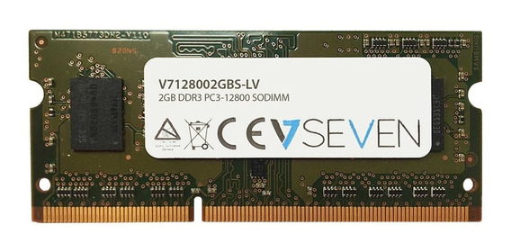 Memoria Ram 2gb V7 Ddr3 1600mhz Cl11 So Dimm Pc3l-12800 1.35v (v7128002gbs-lv)