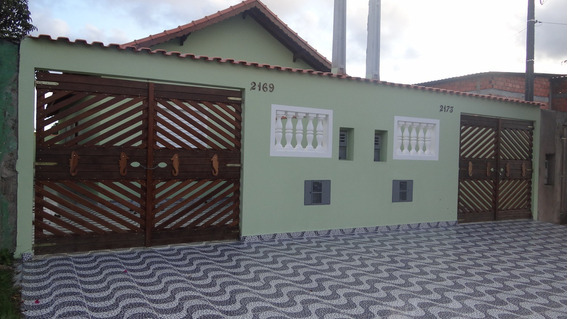 Casa No Balneário Jussara Em Mongaguá! Ref: 6620 D