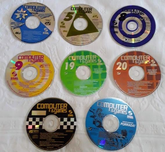 Coleção 8 Cd Roms Coleção Revista Computer & Games Jogos Etc
