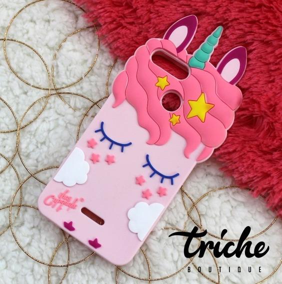 Funda Unicornio Pestañas Rosa Xiaomi Redmi 6 / Redmi 6a
