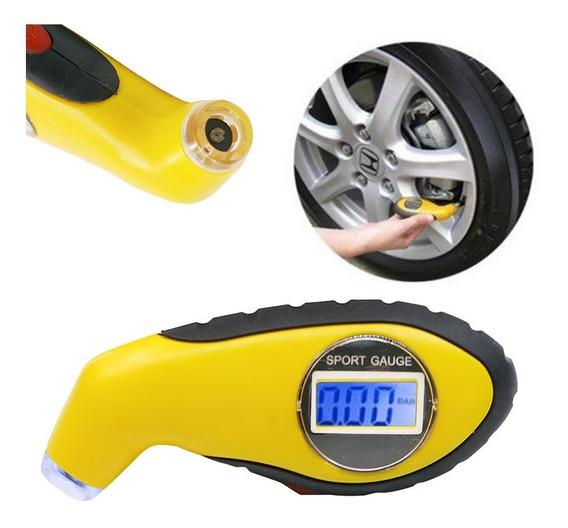 Calibrador Medidor Digital Pressão Pneus Carro Moto - Frete