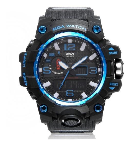 Relógio Masculino Aprova Dagua Esportivo Analógico E Digital