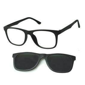 d44c111c2 Armação Óculos Clipon Masculino Preto Quadrado Original 474