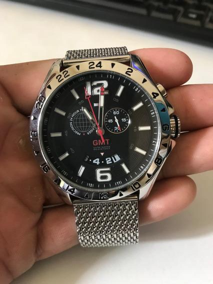 Relógio Tommy Hilfiger Gmt 1790976 Pulseira Mesh