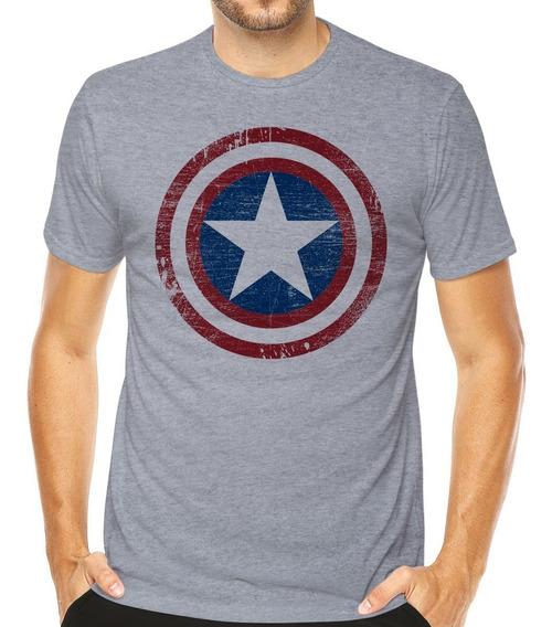 Camiseta Capitão América Marvel Super Heroes Séries Animes