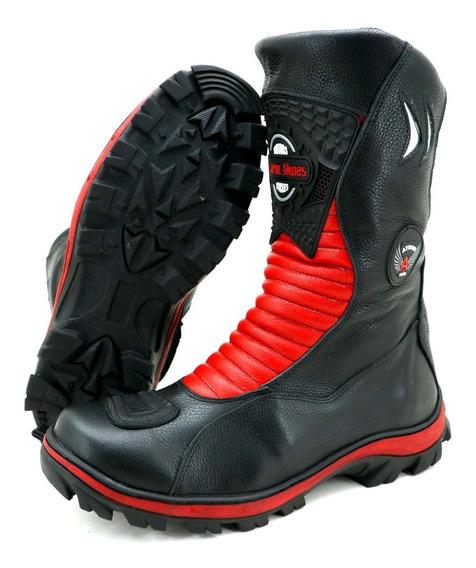Bota Motociclista Atron Shoes 302 Feminina