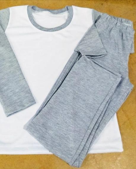 3 Pijamas Longo Infantil Unissex Sublimação- 2 A 12 Anos!