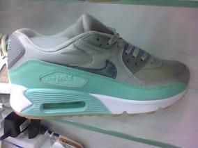 f4388584bef Tenis Nike Air Max 90 Cinza E Verde Agua Nº36 Original