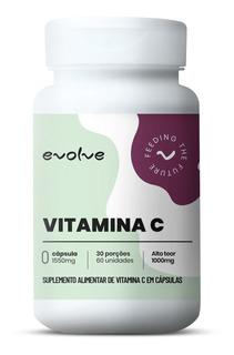 Vitamina C 1000mg (60 Caps) - Evolve