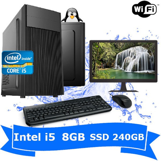 Computador Desktop I5 2400 8gb Ssd 240gb Wifi Kit Monitor 17