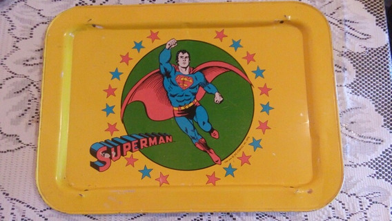 Bandeja Para Tv Superman Vintage Tm & © Dc Comics Inc 1976
