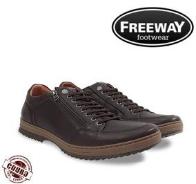 e40cf0d43 Sapatenis Freeway - Sapatos para Masculino Marrom no Mercado Livre ...