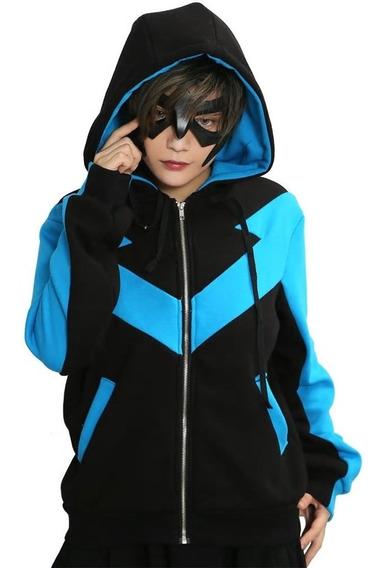 Hoodie Sudadera Abrigo Nightwing Ala Noctura Talla L