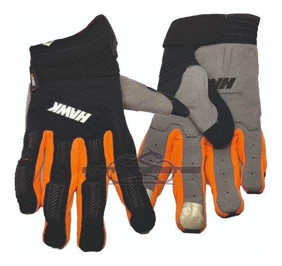 Guantes Hawk Fit Naranja Tactiles Calidad Premium Antares