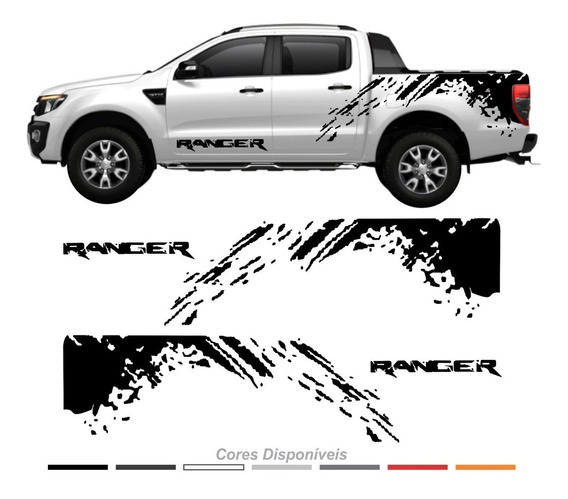 Adesivo Nova Ford Ranger Faixa Lateral Raptor 2012/2019 128