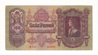 1930 Hermoso Billete 90 Hungria 100 Szaz Pengo Antiguo