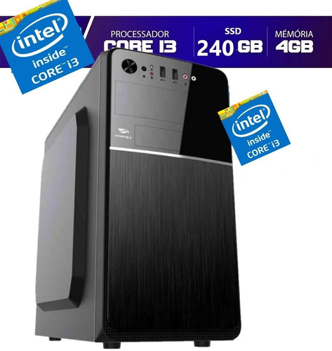 Imagem 1 de 2 de Cpu Pc Intel Core I3 3.2 4gb Ssd 240gb  Limpa Estoque