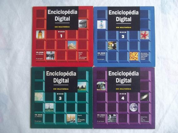 Enciclopédia Digital Multimídia Folha Da Manhã Cd-rom 4 Vol.
