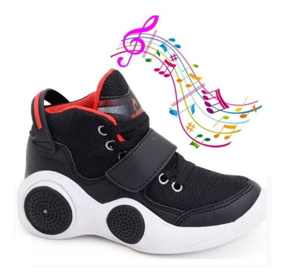 Tênis Infantil Menina E Menino Musical Conexão Bluetooth