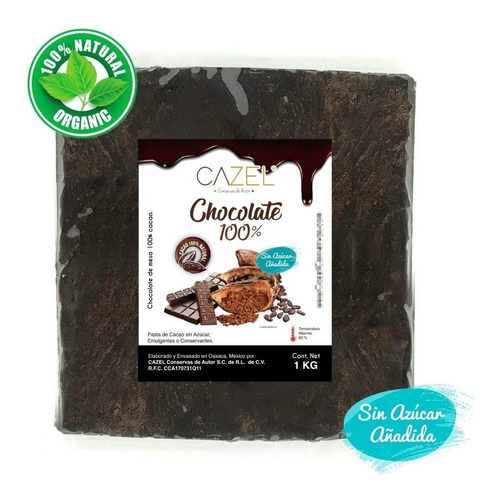 Chocolate Oaxaca Puro Tableta 100% Cacao 5kg