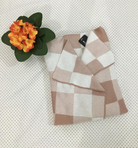 Casaco Kimono Feminino De Tricô Xadrez - Tamanho M
