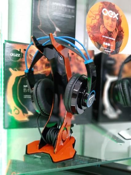 Fone De Ouvido 50mm - Lh280bl Lexsen + Suporte Para Headset