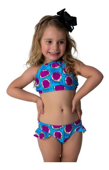 Biquíni Cropped Infantil Lycra, Roupas Meninas Moda Praia