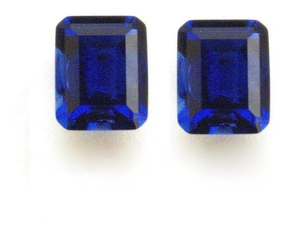 Safira Azul Retângulo 10x8 Mm Par 3029apb