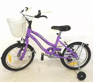 Bicicleta Robinson 0297 Rod 14 Playera Full Nena Beiro