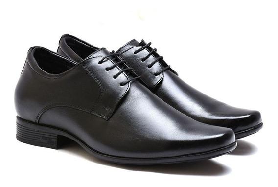 Sapato Com Salto Interno Jota Pe Preto Grow Air 71360