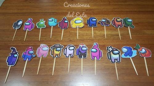 Toppers  Para Cupcakes Miles De Diseños Personalizados !!