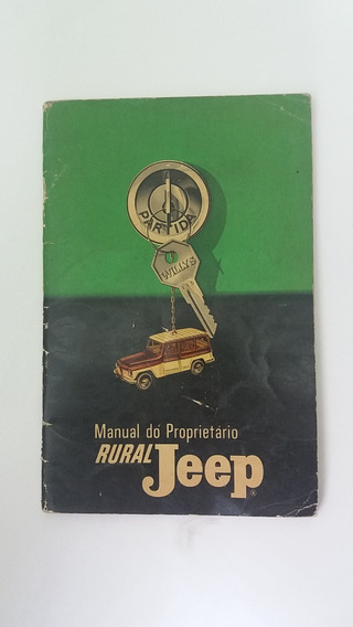 Manual Do Proprietário Rural Jeep Willys - Original