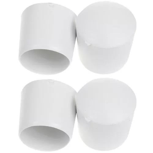 Ponteira Pé Pvc P/ Cadeira 3/4 (19,05mm)-kit 32pçs-branco