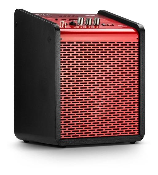 Caixa De Som Amplificada Frahm Usb Bluetooth - Vermelha