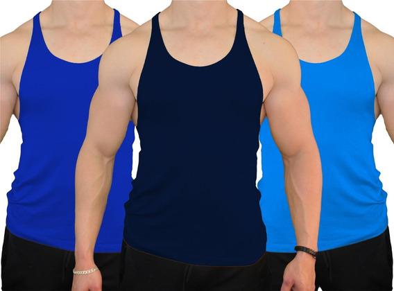 3 Camisetas, Playeras Hombre Tanktop Corte Olímpica Fenixfit