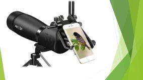 Telescópio Heider Pro Zoom X1 Terrestre Adaptador De Câmera