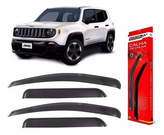 Calha De Chuva Acrilica Jeep Renegade 2015 2016 2017 2018