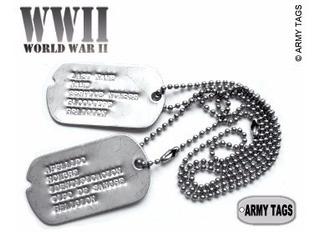 Placas De Identificacion Militar Dog Tags Estilo Ww2 Envio