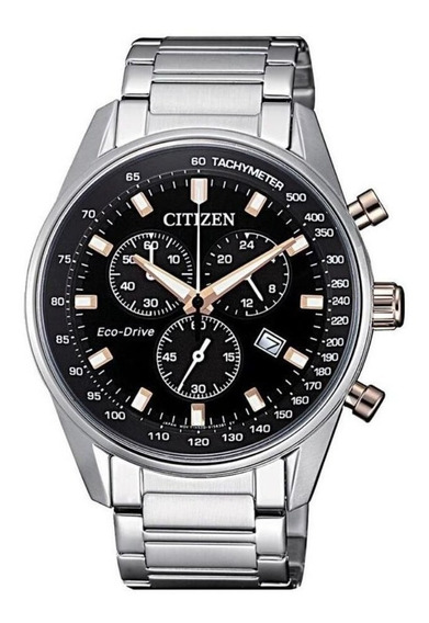 Relógio Citizen Masculino Ref: Tz20742t Cronógrafo Prateado