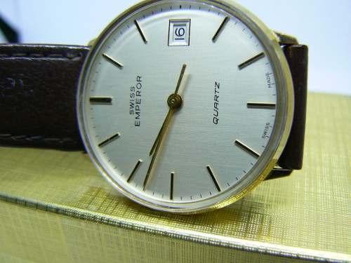 Relógio Swiss Emperor Banho De Ouro