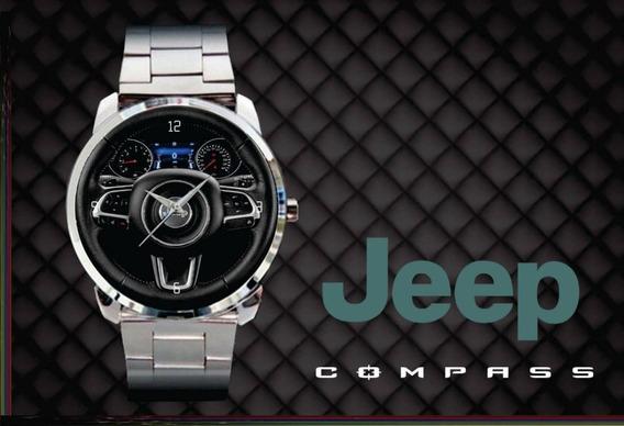 Relógio De Pulso Personalizado Logo Painel Jeep Compass 2018