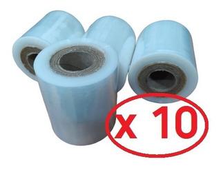 Film Stretch 10cm Virgen Cristal Para Embalar Atar Pack X 10