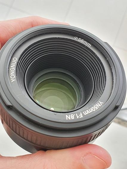 Lente Yongnuo Yn 50 Para Nikon Com Auto Foco