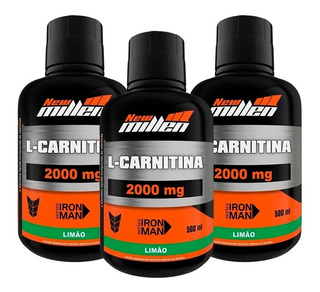 Combo 3x L-carnitina - 500ml - New Millen Super Promo