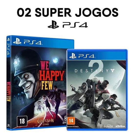 We Happy Few + Destiny 2 - Day One Edition - Ps4 - Novos