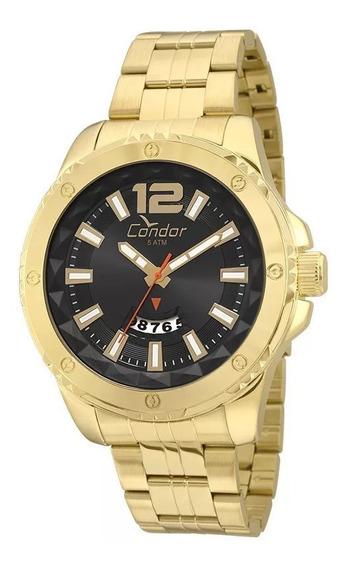 Relógio Condor Original Masculino Co2115wx/4p Dourado Nf