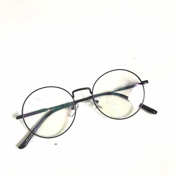 Óculos P/grau Masculino Femenino Retrô Metal Nova Geek