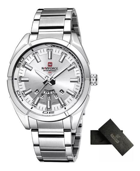 Relógio Naviforce Nf9038 Original Aço Prateado
