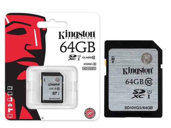 Cartão Sd Kingston 64gb Secure Digital Sdhc Classe 10 Uhs-i
