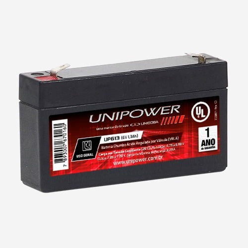 Bateria Unipower 6v 1,3ah Up613